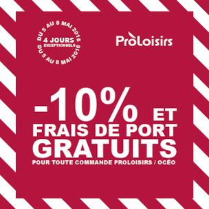Opération -10% + Frais de port gratuits