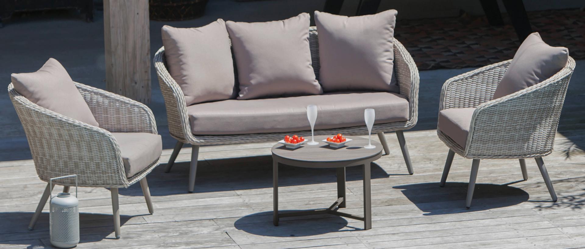 Augusta salon canapé + fauteuils + Tb