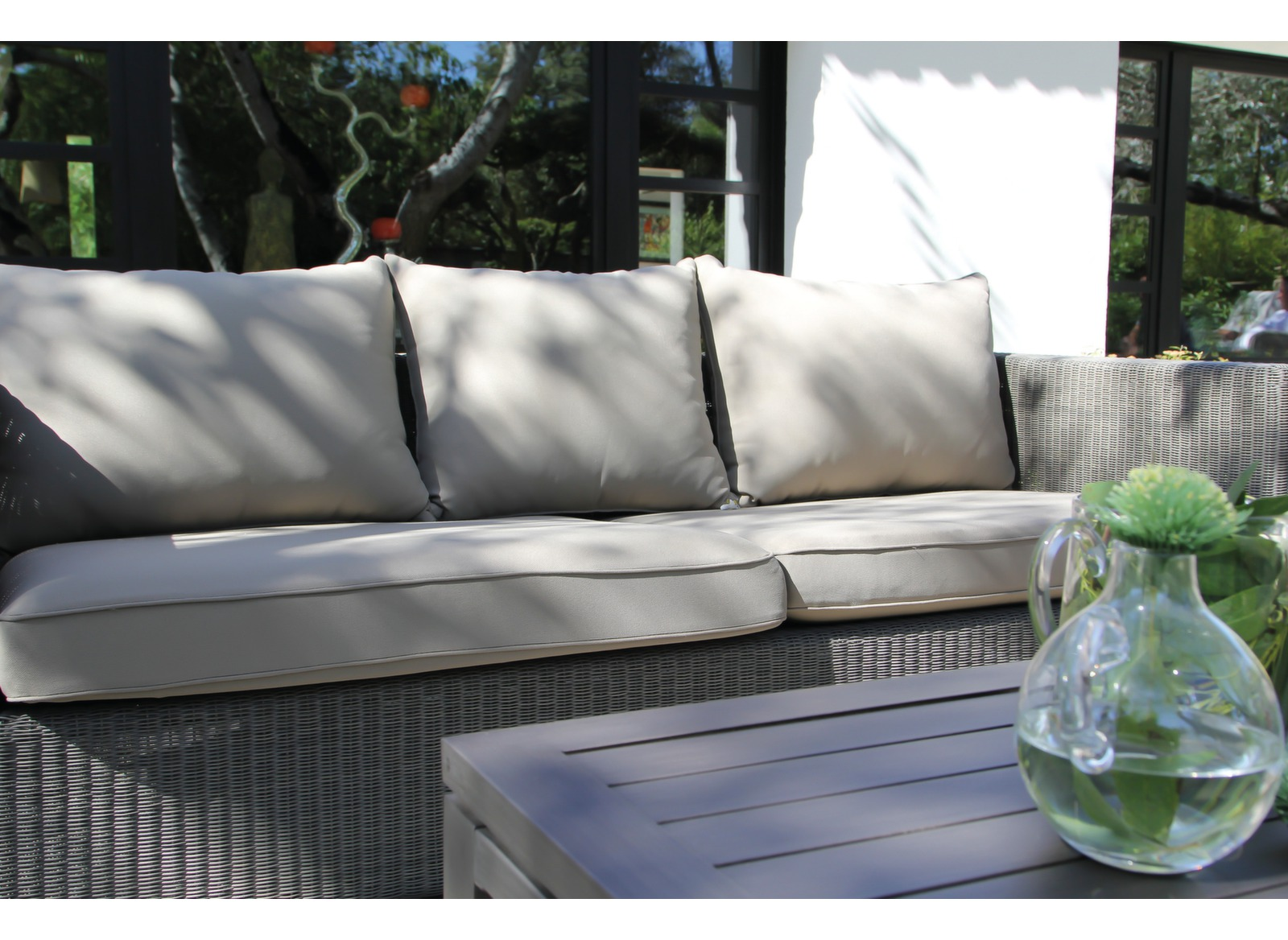Canapé de jardin 3pl. résine tressée Meadow - Gamme Océo - Proloisirs 253b122fbff6