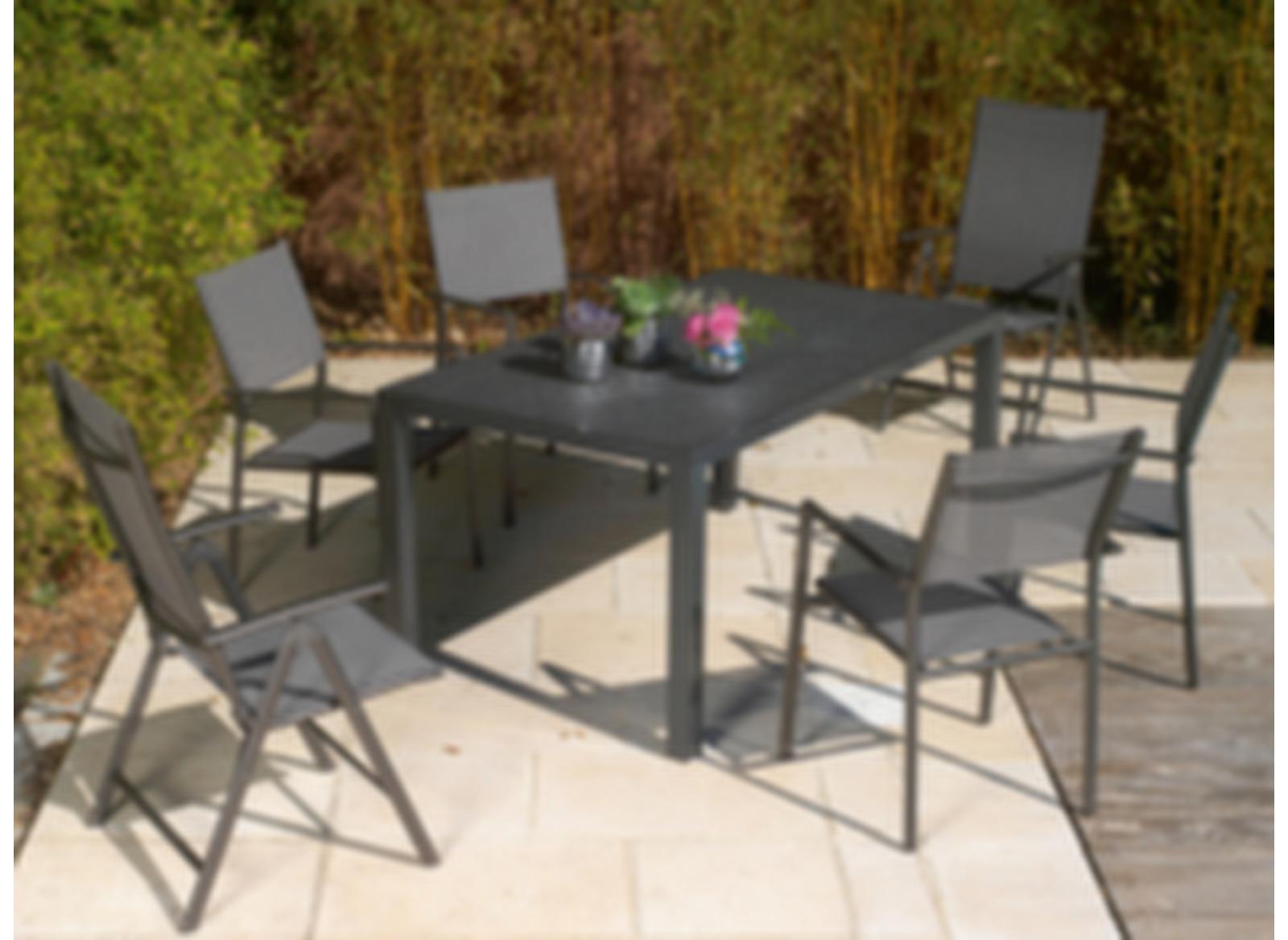 fauteuil multipo sartene grey bb soldes meubles de jardin pour le repas mobilier oc o et. Black Bedroom Furniture Sets. Home Design Ideas