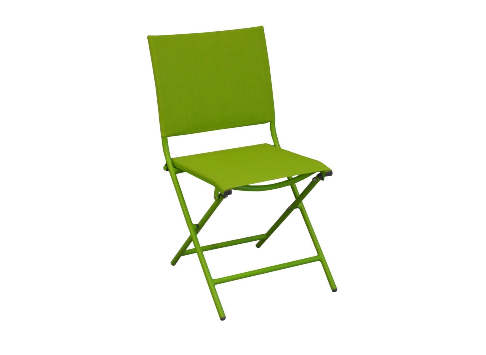 Chaise de jardin pliante et verte globe proloisirs - Chaise jardin couleur ...