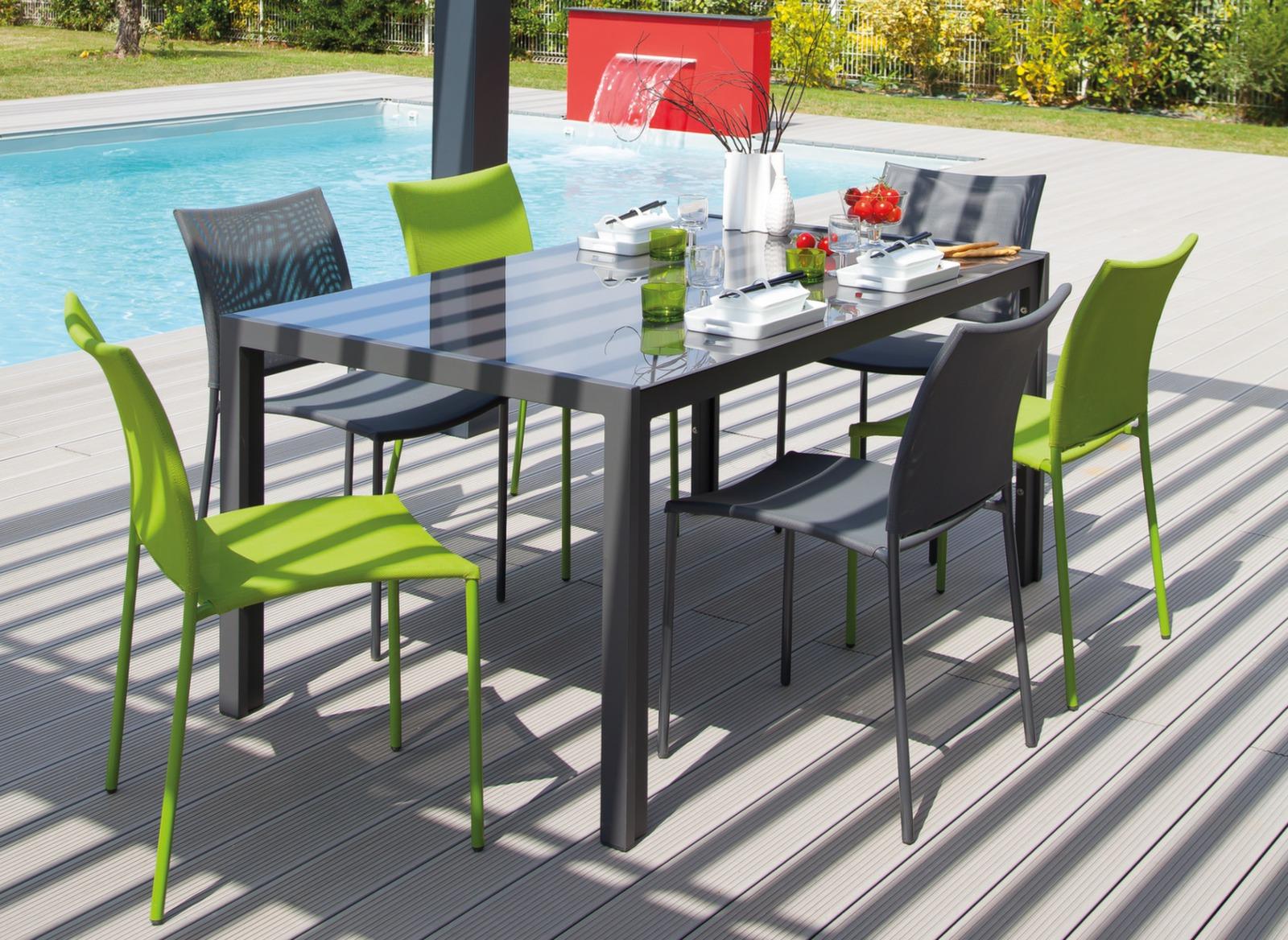 Chaise de jardin globe color e et empilable proloisirs - Chaise de jardin empilable ...
