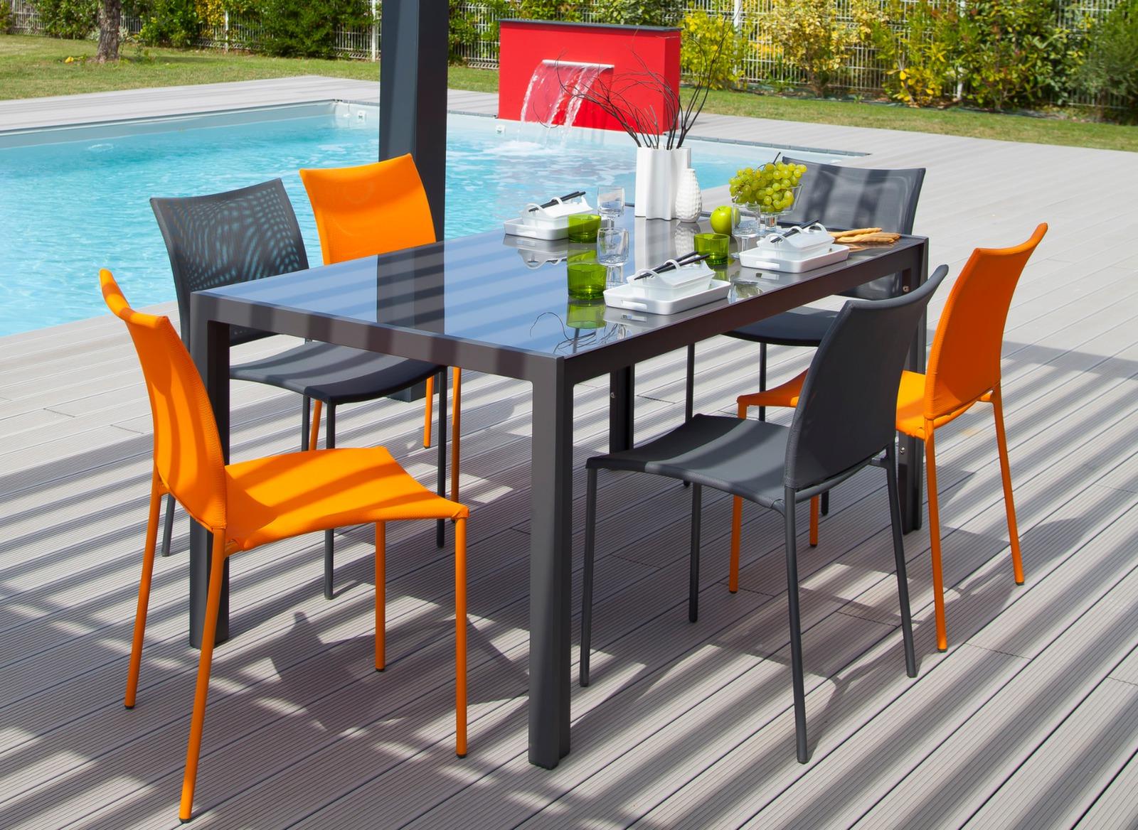 chaise de jardin globe color e et empilable proloisirs. Black Bedroom Furniture Sets. Home Design Ideas