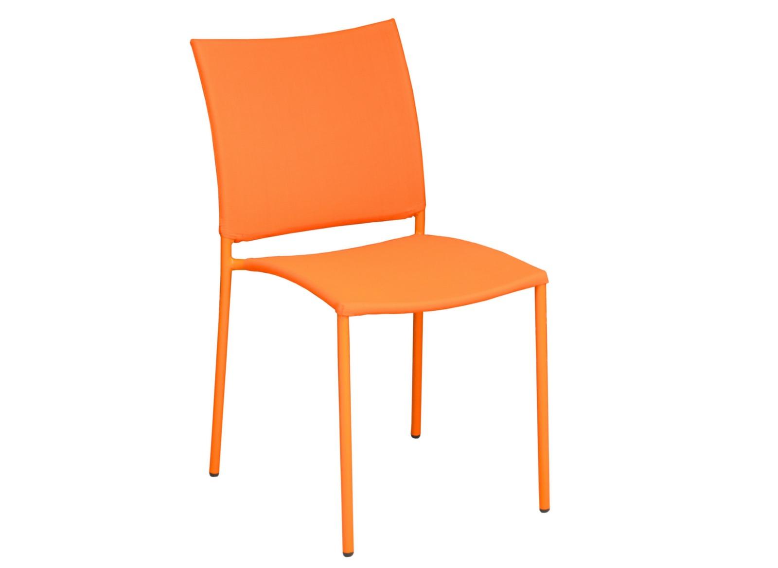 Chaise de jardin globe color e et empilable proloisirs - Chaise de jardin coloree ...