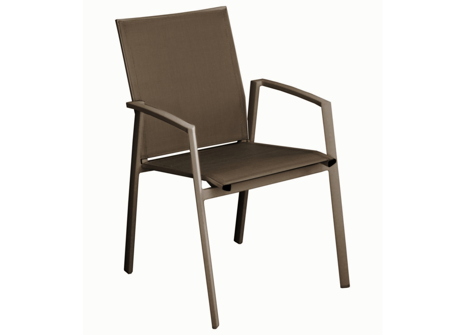 fauteuil de jardin en aluminium marron palma proloisirs. Black Bedroom Furniture Sets. Home Design Ideas