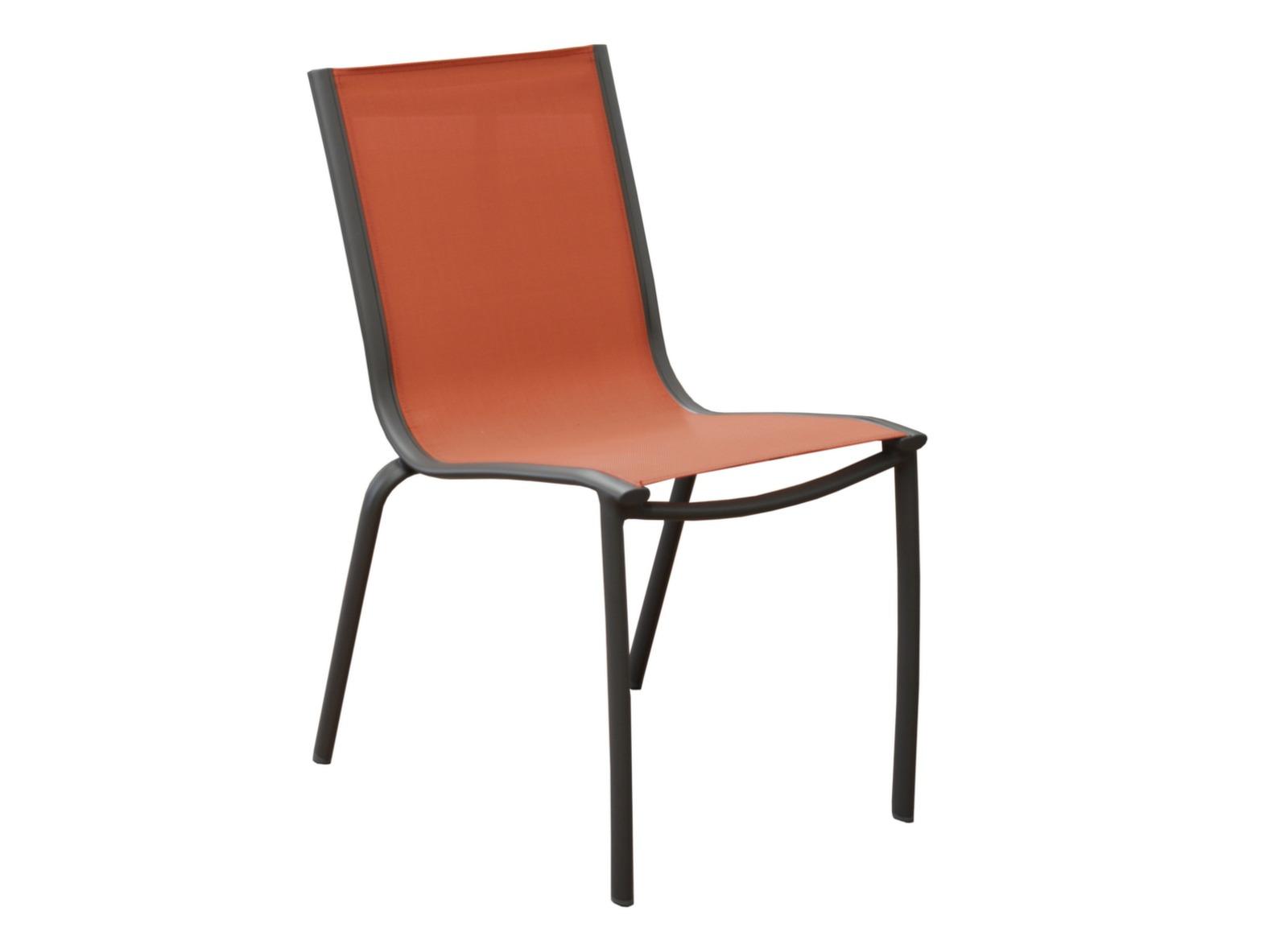 Chaise de jardin en aluminium lin a proloisirs - Toile pour chaise de jardin ...