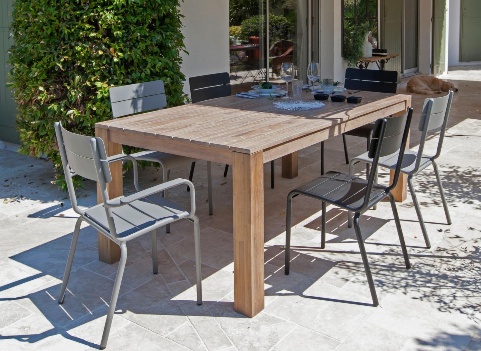 Chaise de salon de jardin aluminium Ecole - Chaise jardin - Proloisirs