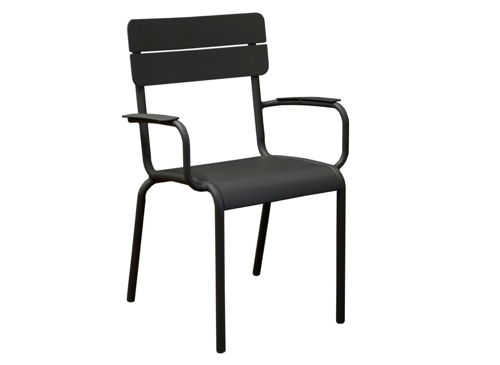 Fauteuil de jardin en aluminium style ecole mobilier proloisirs - Cours de restauration de fauteuil ...