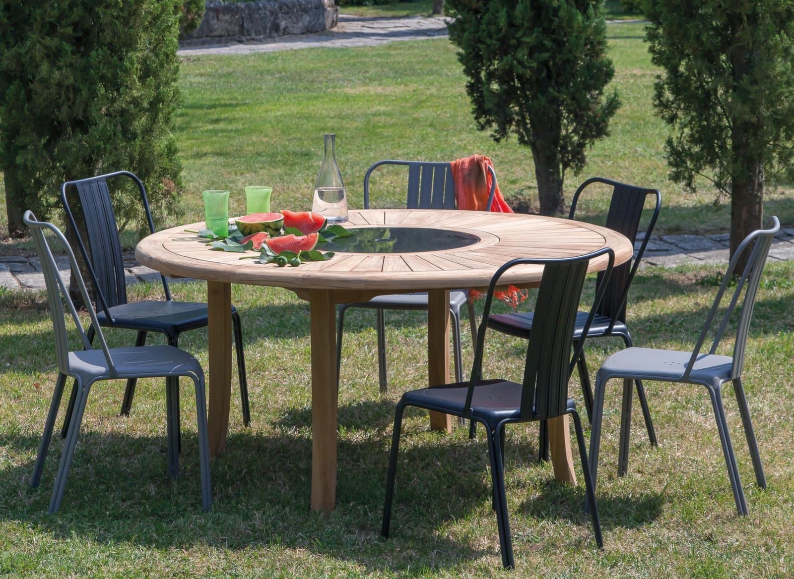 HOUSSE PROTECTION POUR TABLE 160x160 POLYESTER/PVC - GRIS