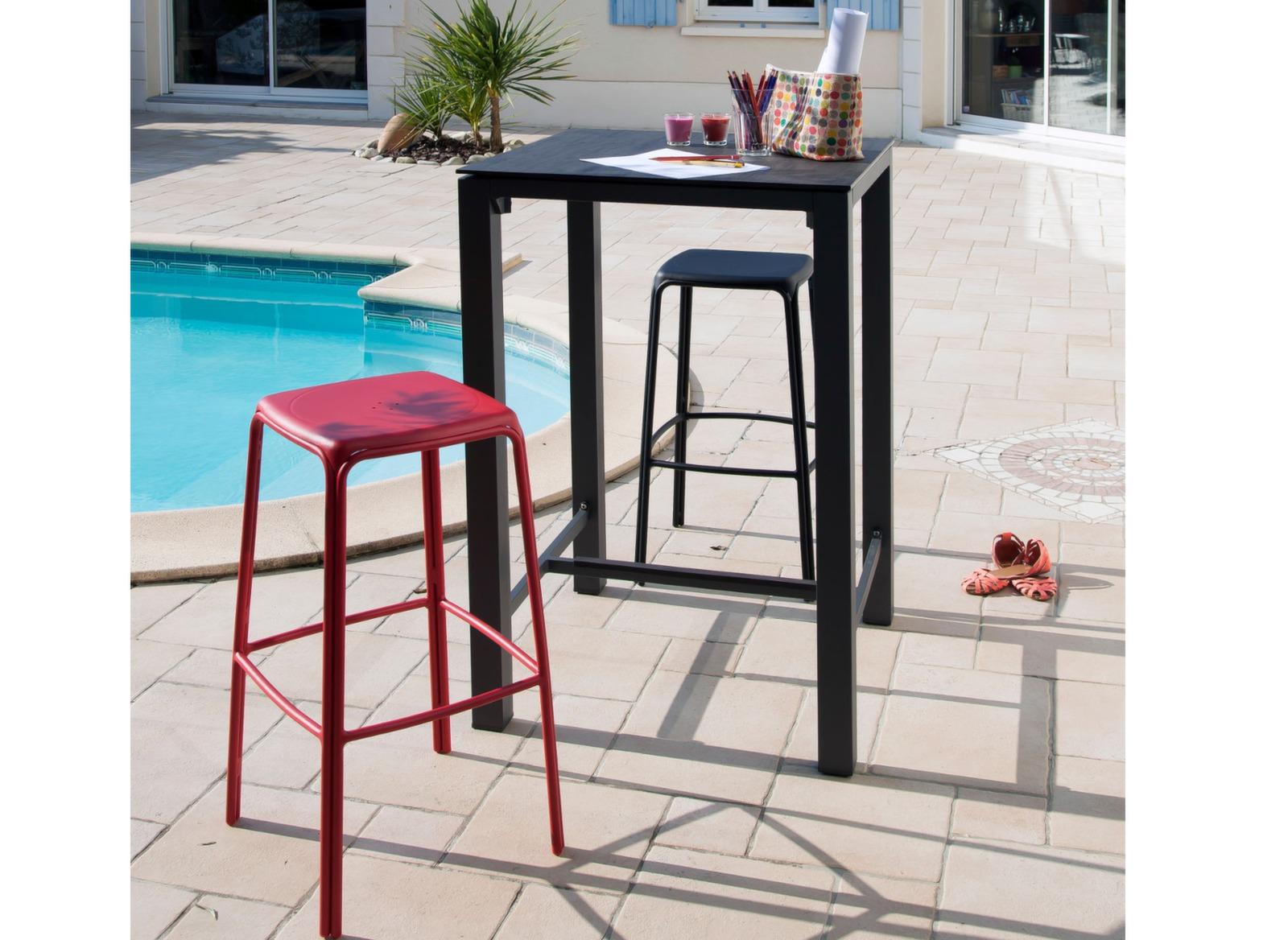 mange debout carr 70 cm ston o manges debout proloisirs. Black Bedroom Furniture Sets. Home Design Ideas