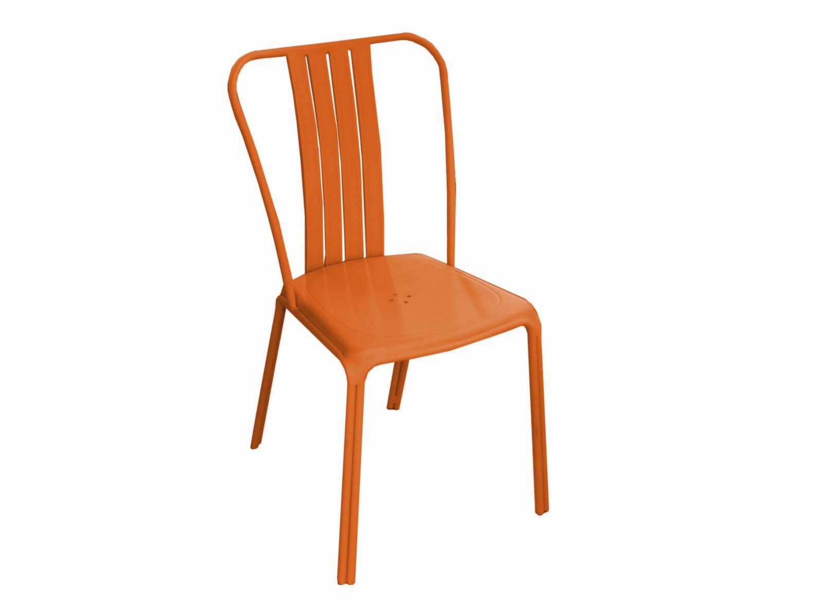Chaise azuro orange chaises et fauteuils de jardin salon de jardin repas proloisirs - Chaise salon de jardin orange ...