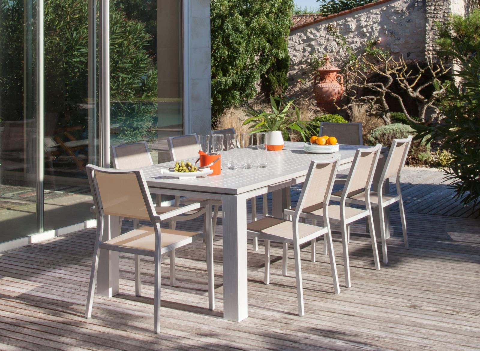 Table de jardin 240x100cm Fiero - Promotions - Proloisirs