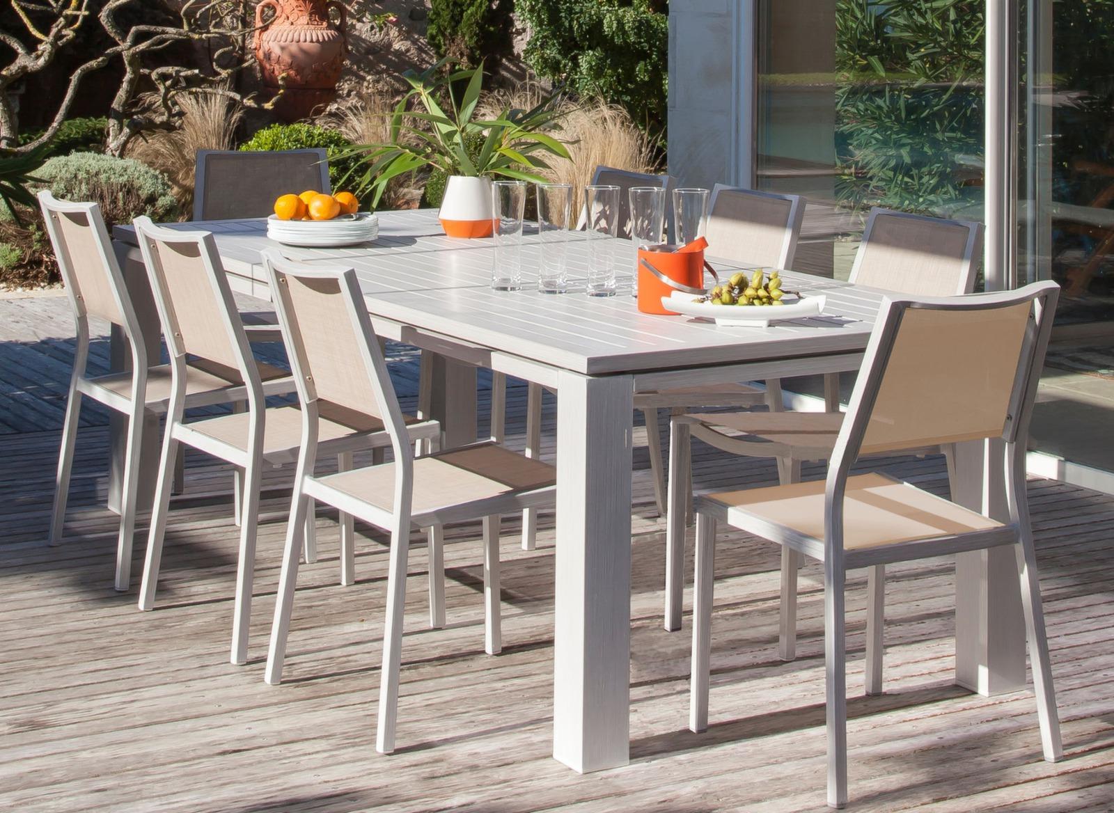 Table Fiero 240 x 100 cm - Mobilier de jardin pour le repas ...