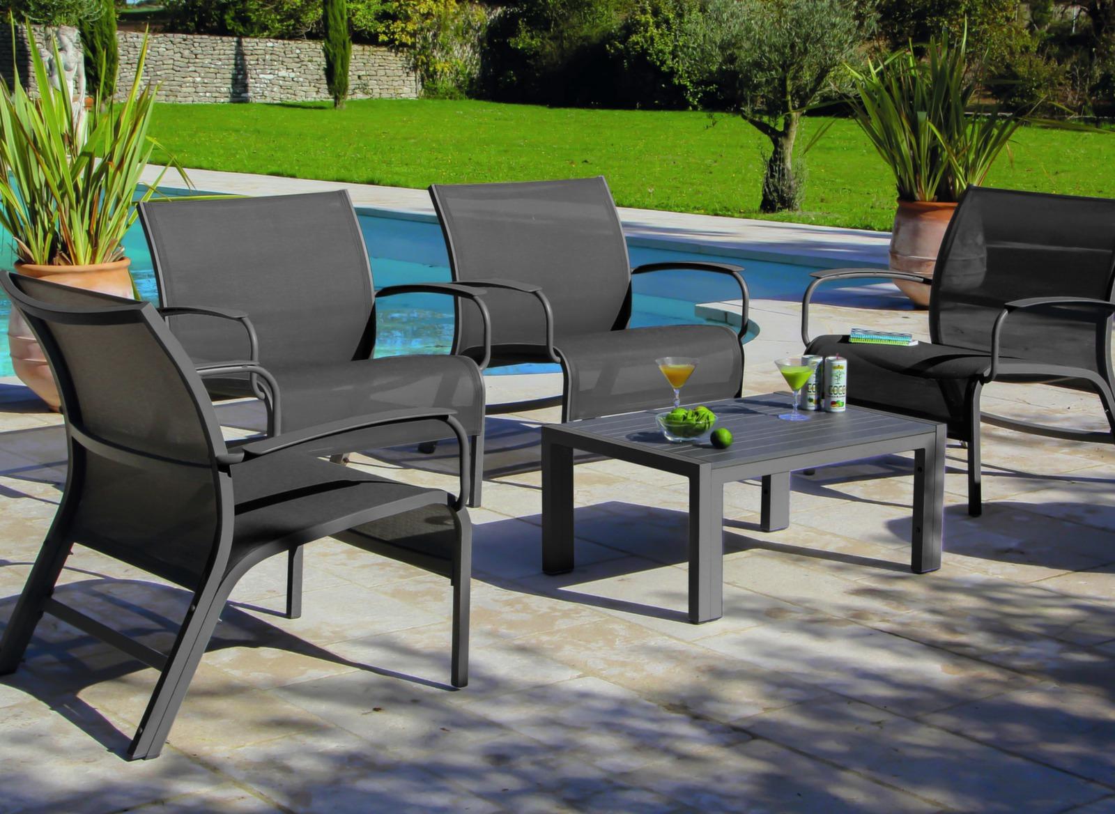 set lounge linea taupe taupe salons bas de jardin. Black Bedroom Furniture Sets. Home Design Ideas