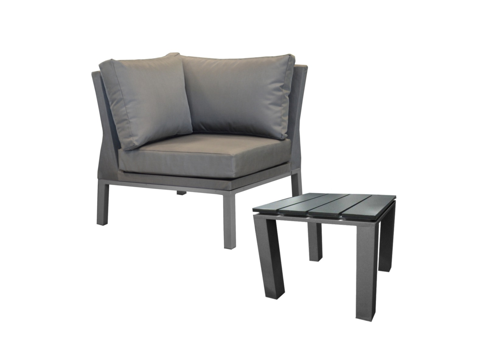 fauteuil d 39 angle table basse oslo mobilier de jardin proloisirs. Black Bedroom Furniture Sets. Home Design Ideas