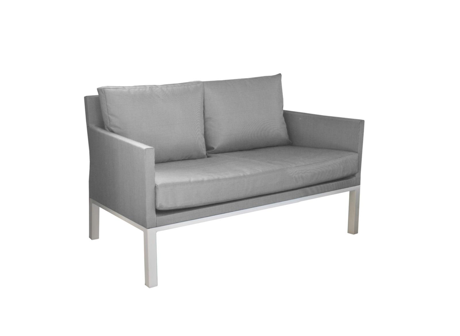 Canap oslo 2 places blanc s argent table basse for Achat mobilier de jardin en ligne