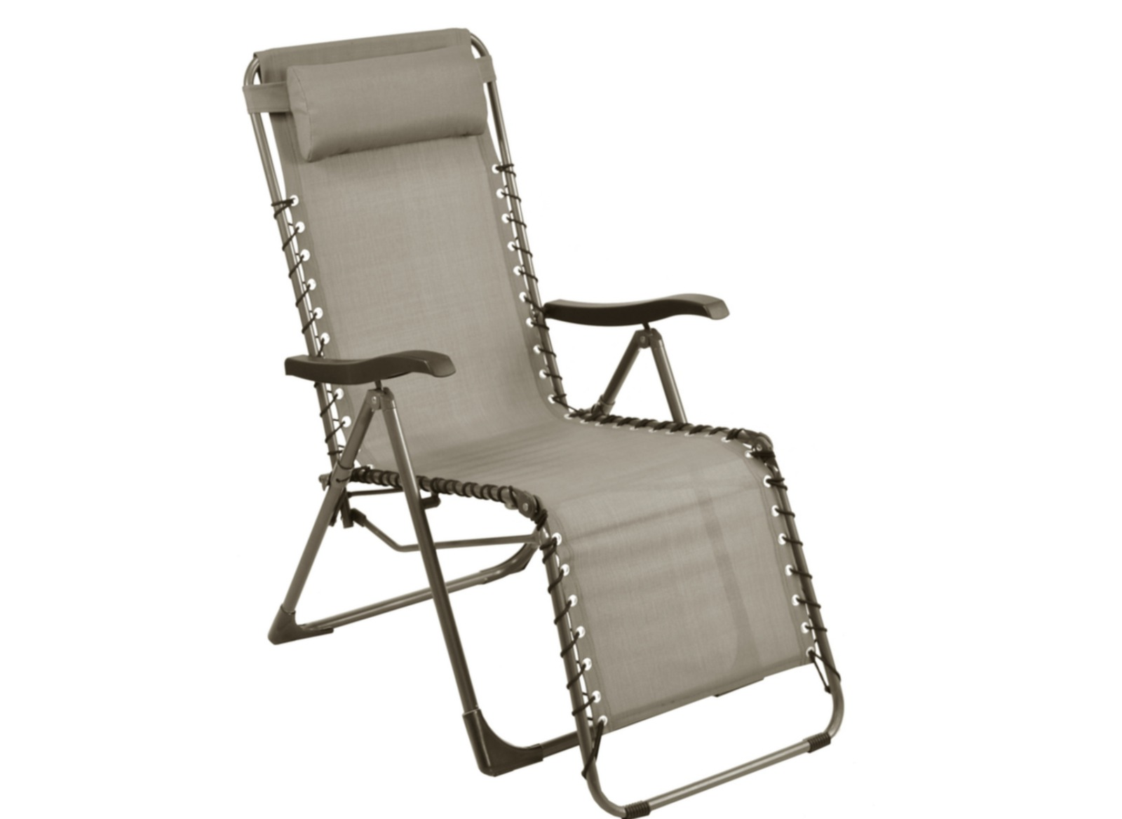 Relax en acier et textilène avec têtière Néo - Proloisirs