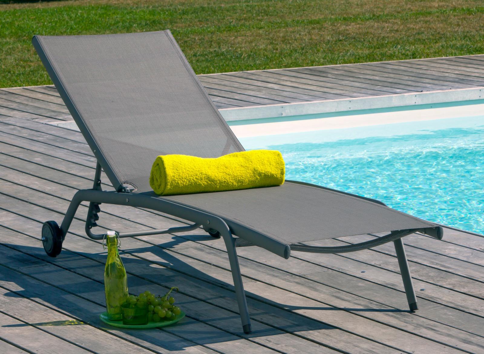 bain de soleil prima en aluminium et toile proloisirs. Black Bedroom Furniture Sets. Home Design Ideas