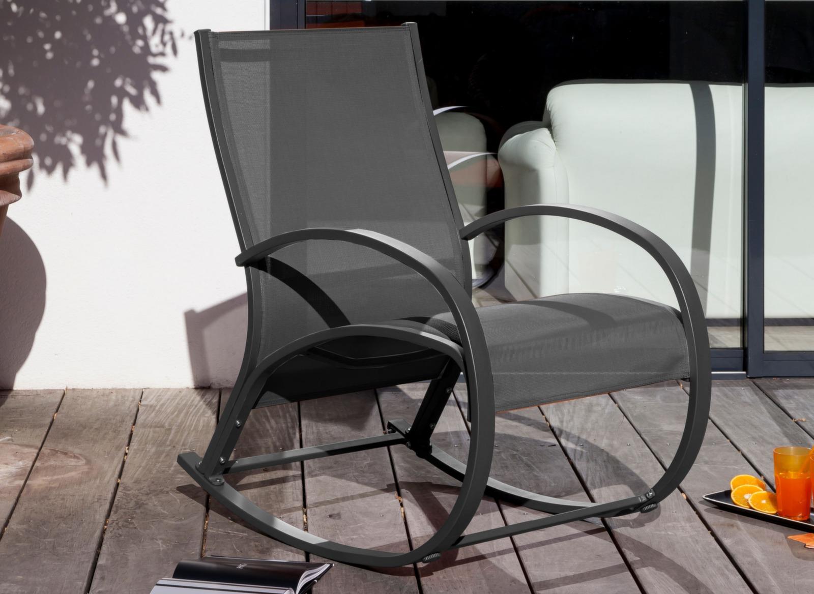 Fauteuil rocking chair d 39 ext rieur anti uvs proloisirs - Prix d un rocking chair ...