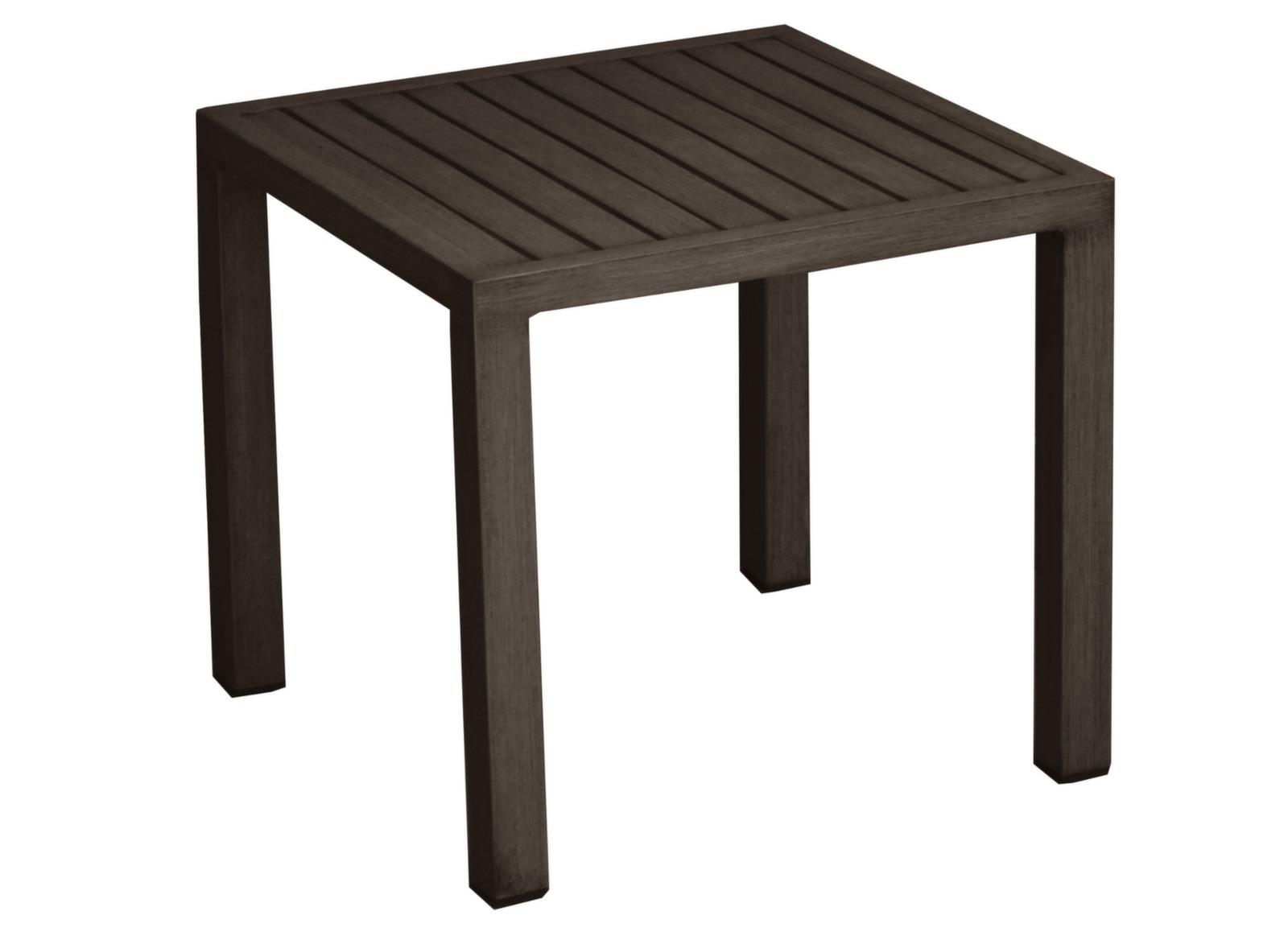 Table basse de jardin carrée Florence Brush - Proloisirs