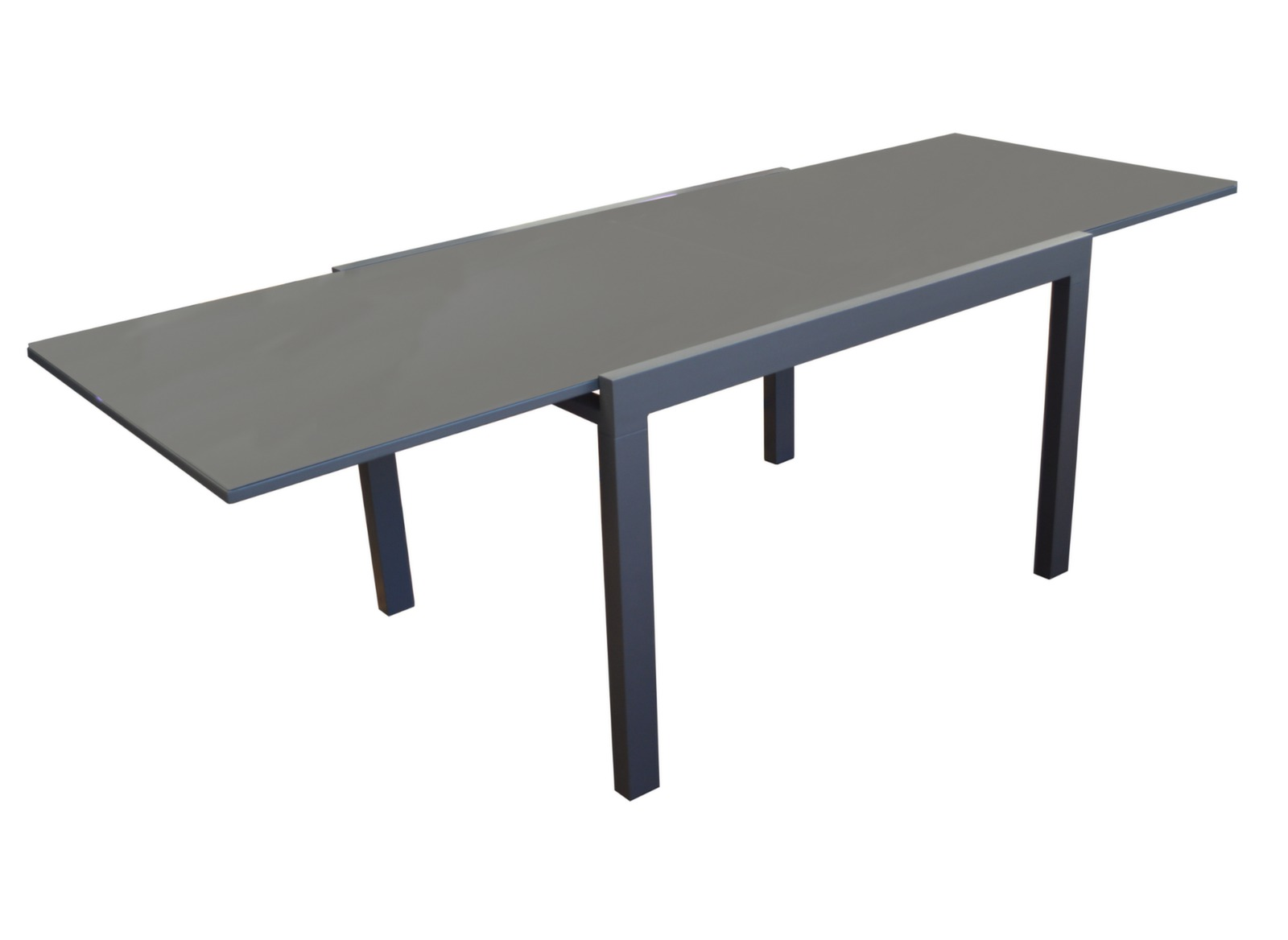 Table elise 80 160 cm table de jardin meubles de for Table largeur 70 cm avec rallonge