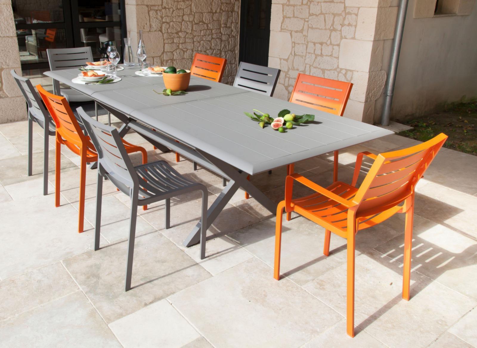 Table de jardin bridge extension proloisirs for Table 52 oak brook