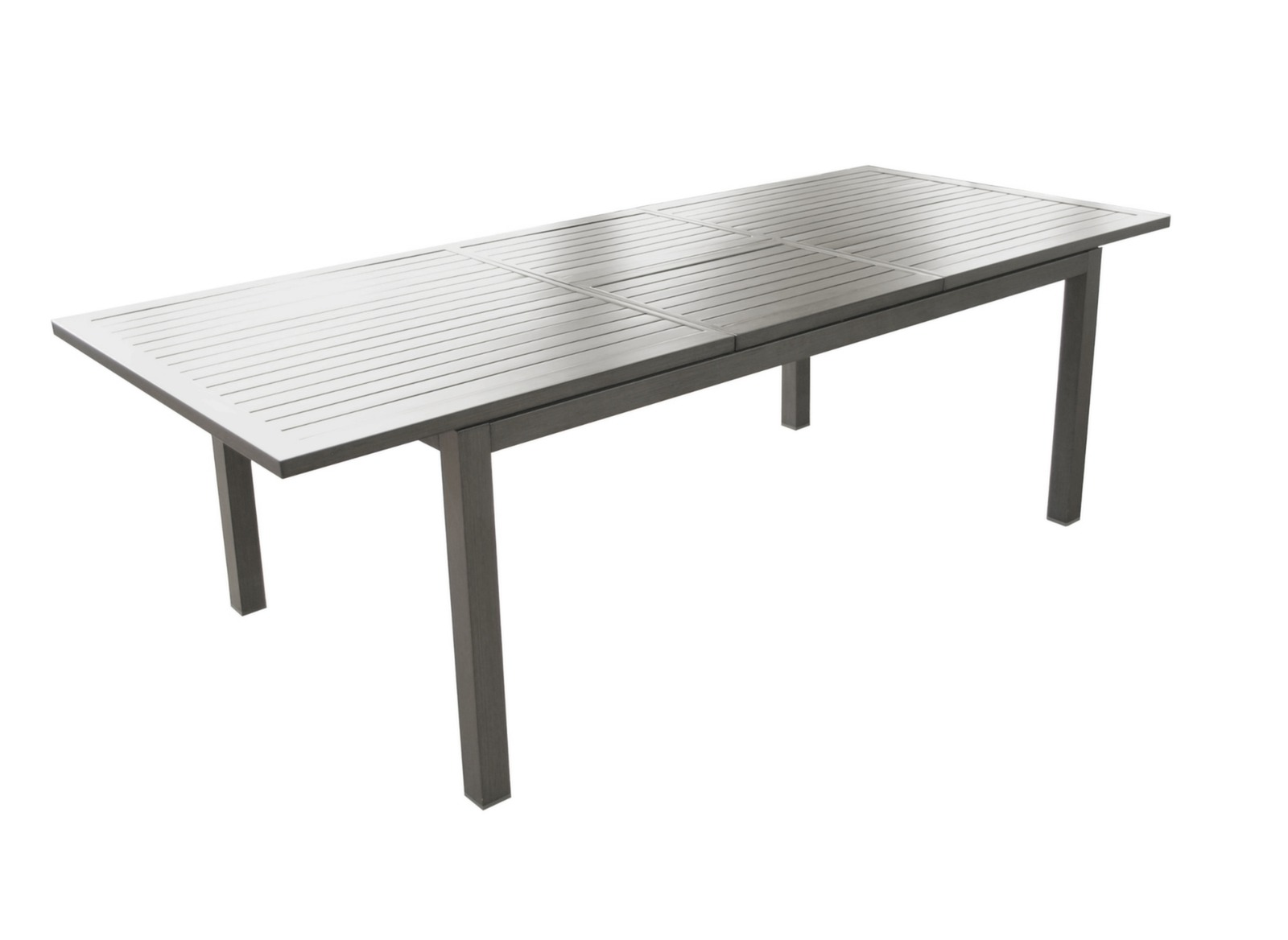 Table de jardin rectangle Trieste 180/240cm - Gamme Alizé - Proloisirs