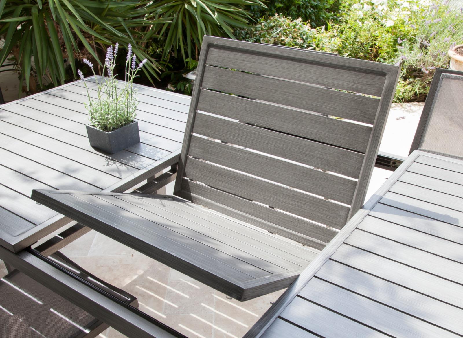 Table de salon de jardin Trieste + 6 chaises - Proloisirs