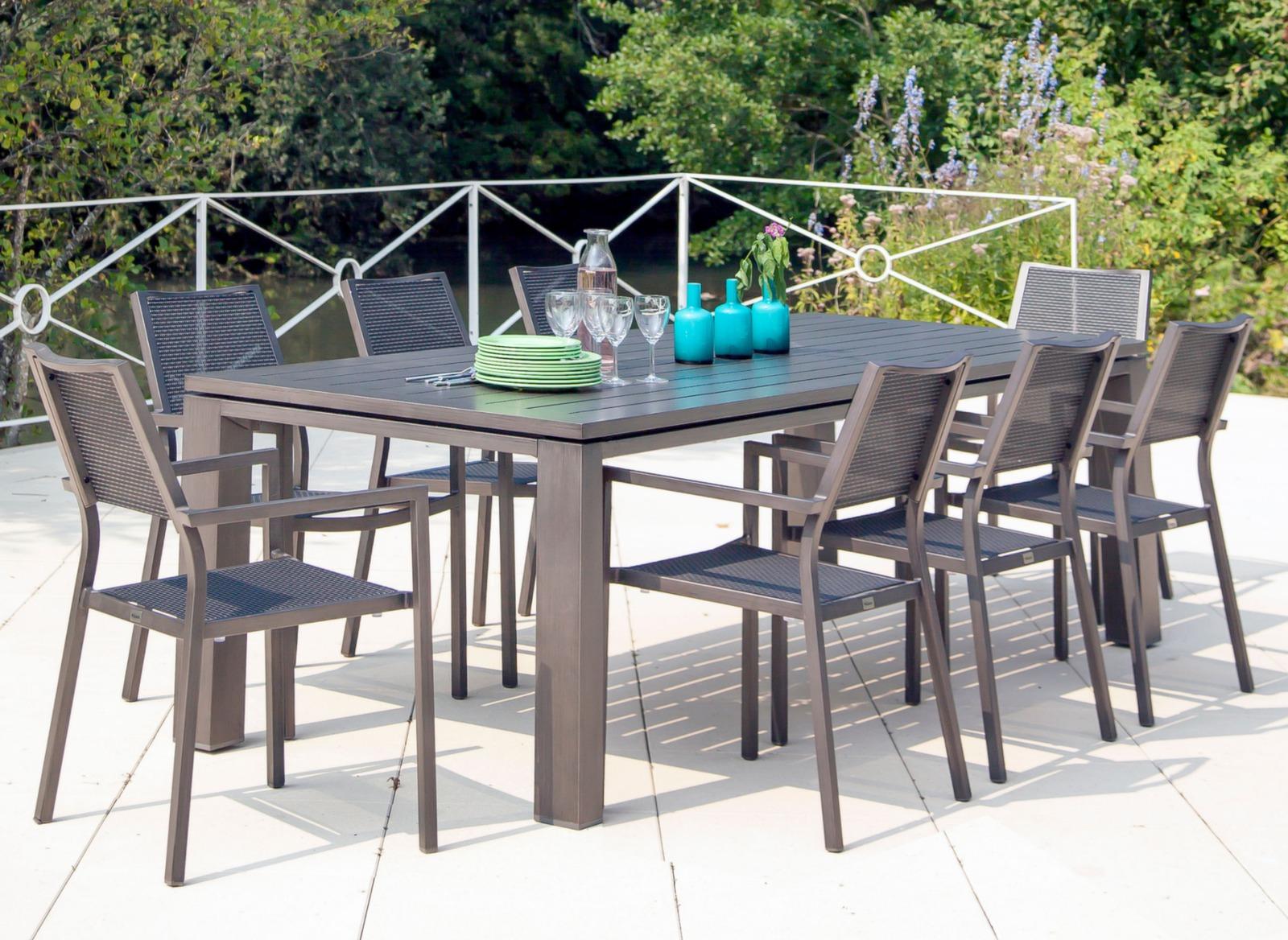 Table fiero 180 x 100 cm tables de jardin meubles de for Achat mobilier de jardin en ligne
