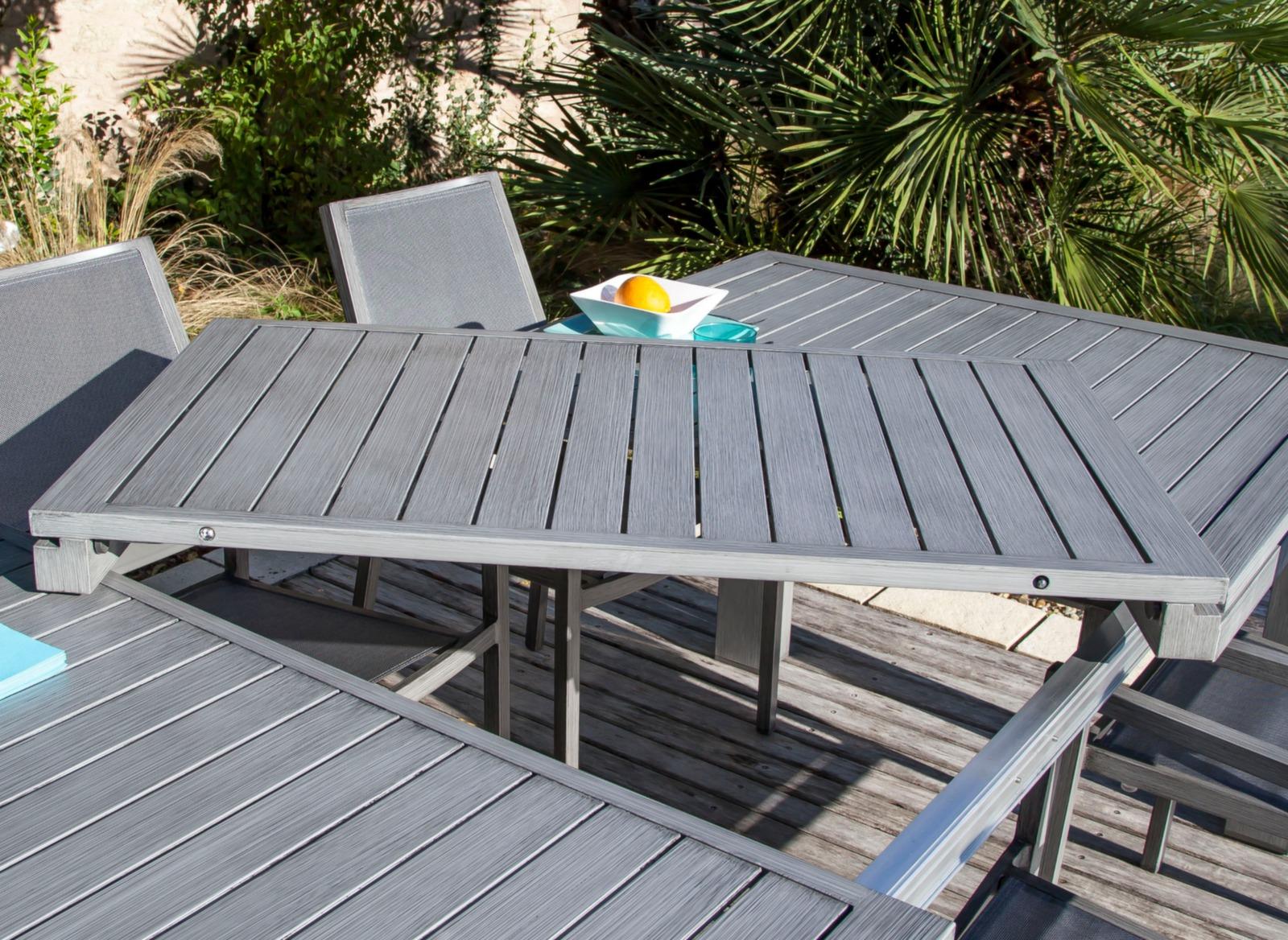 salon de jardin avec grande table promotion proloisirs. Black Bedroom Furniture Sets. Home Design Ideas
