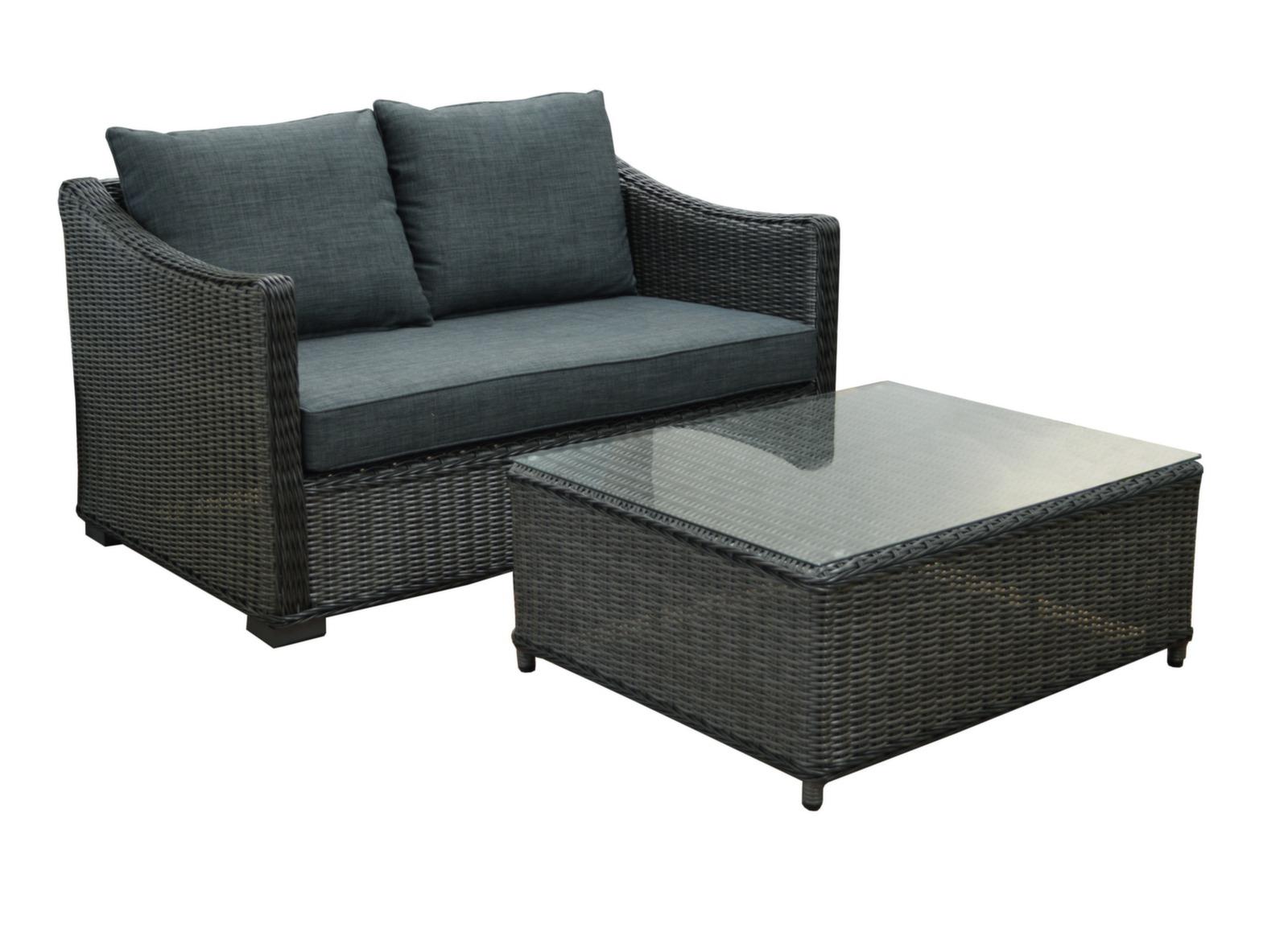 salon de jardin bas en r sine tress e portland proloisirs. Black Bedroom Furniture Sets. Home Design Ideas