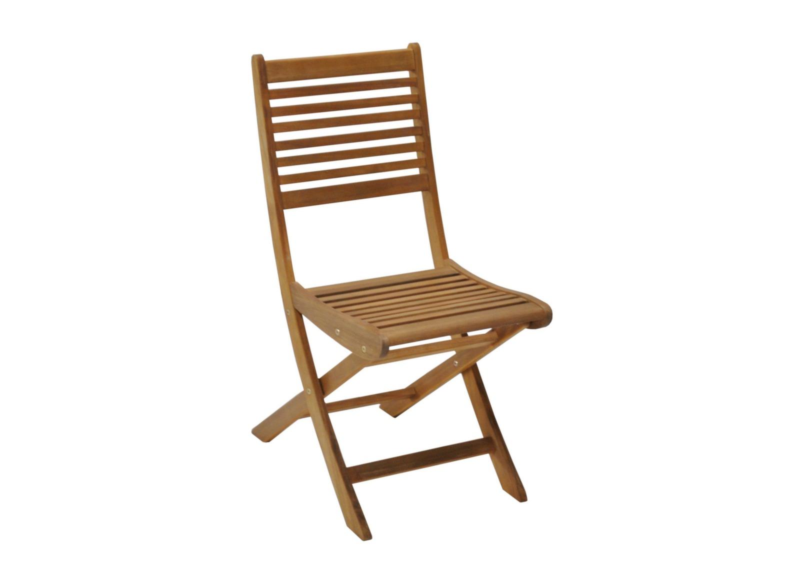 Chaise de jardin en eucalyptus Saturne – Proloisirs
