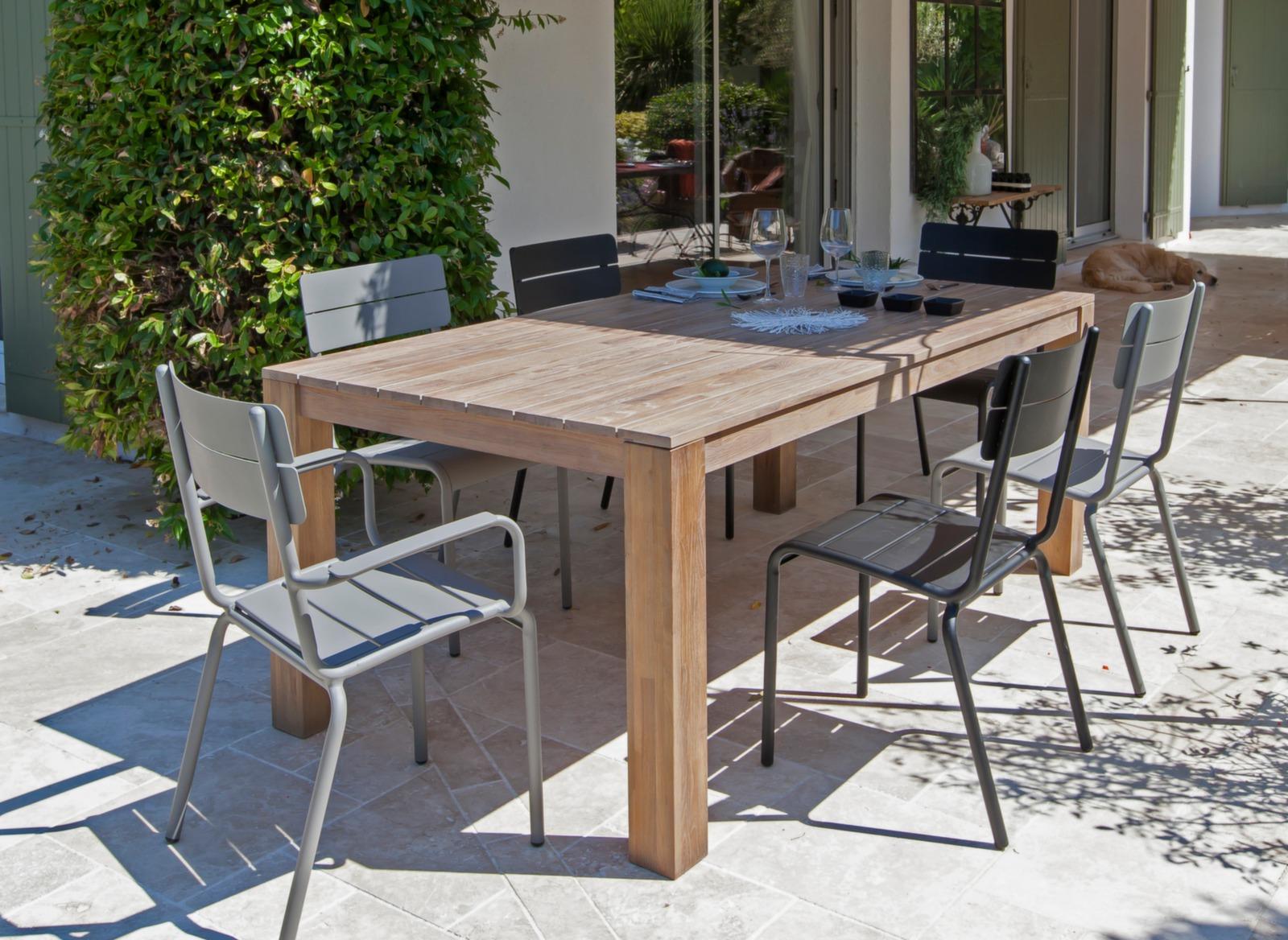 Table de jardin en bois rectangle Kéa - Meubles jardin - Proloisirs
