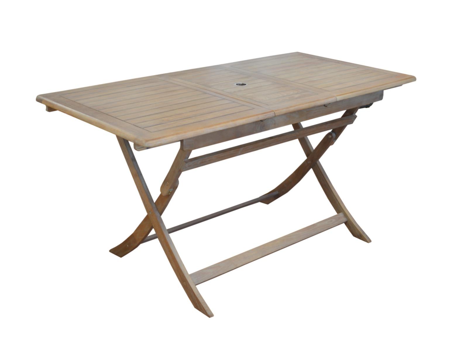 Table pliante Théria 115/150 cm + 4 chaises
