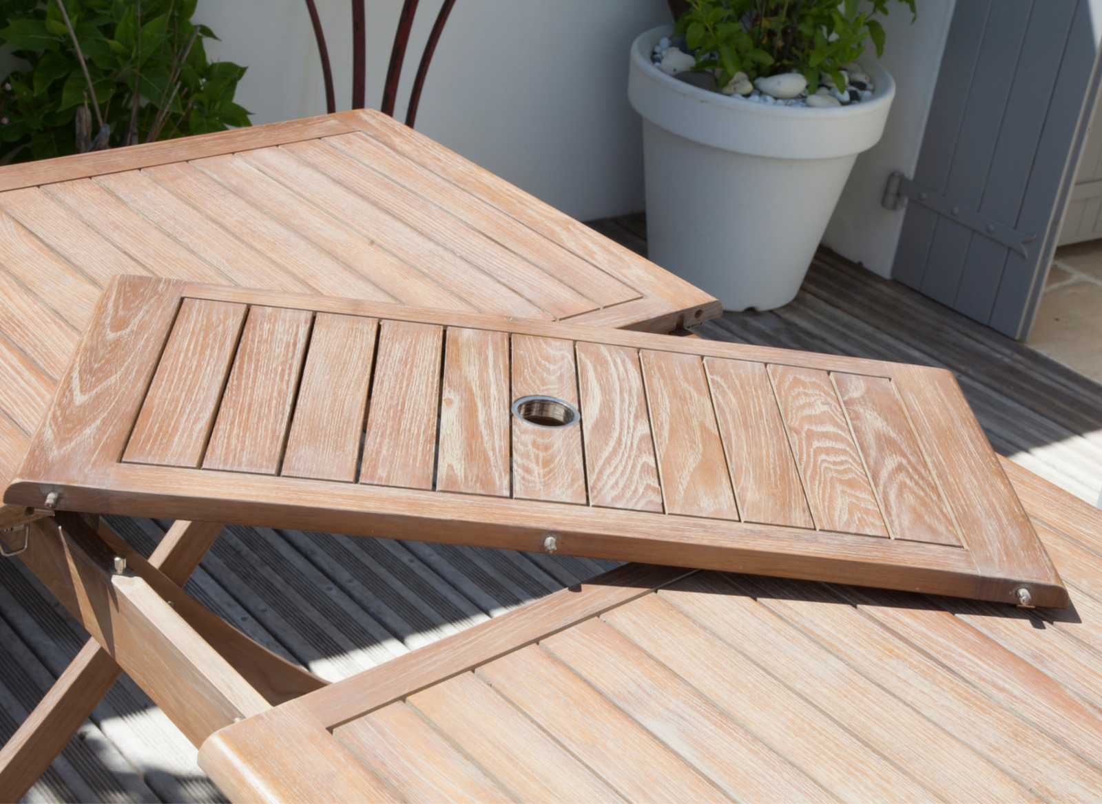 Table de jardin bois Theria 115/150 cm - Meubles jardin - Proloisirs