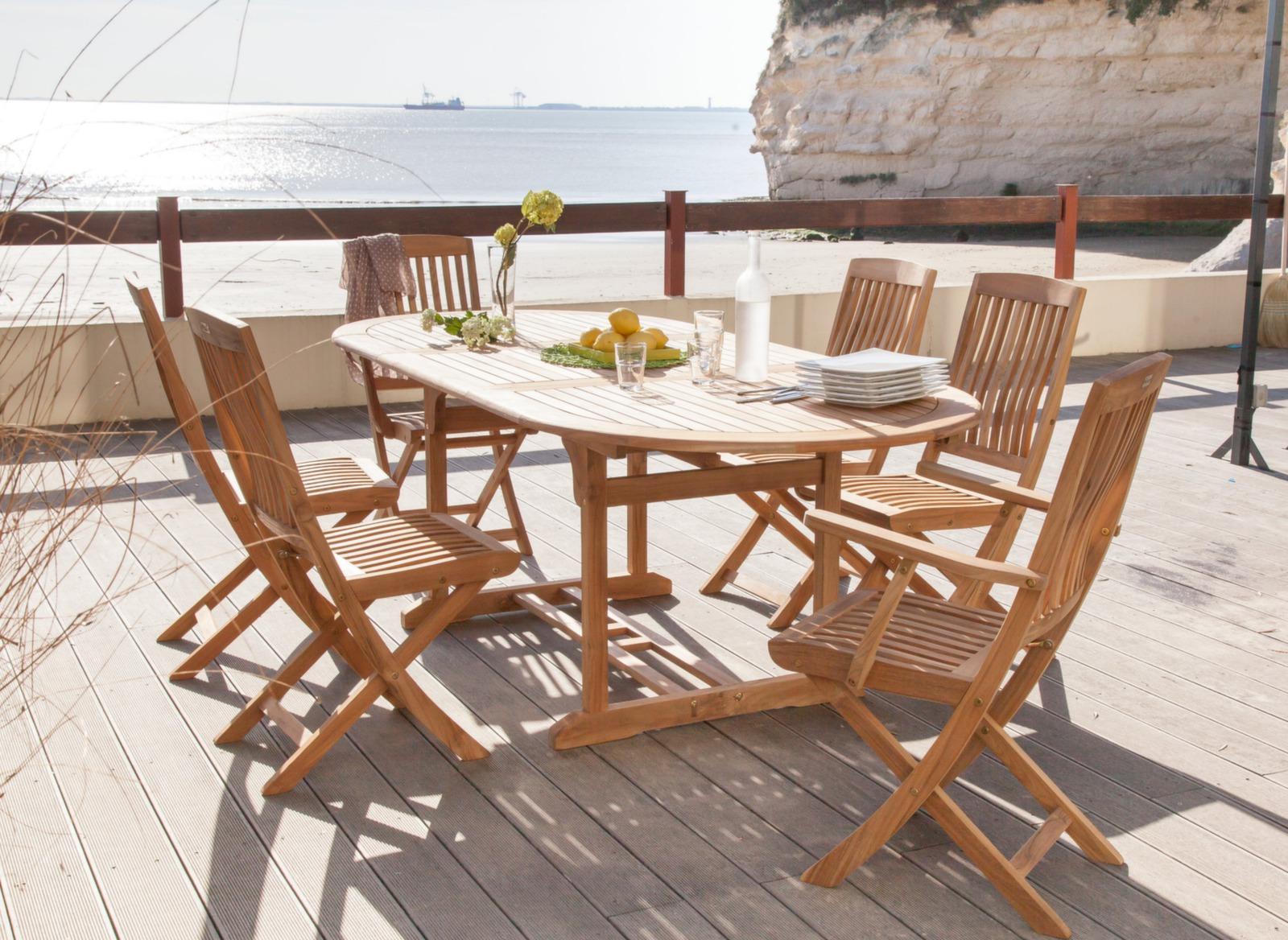 Chaise de jardin en teck rias mobilier de jardin for Mobilier de jardin teck