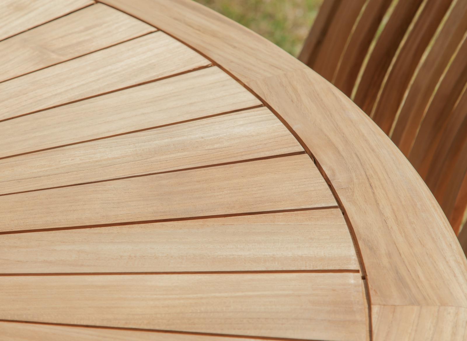 Salon jardin table ronde Bréhat + 6 chaises - Proloisirs