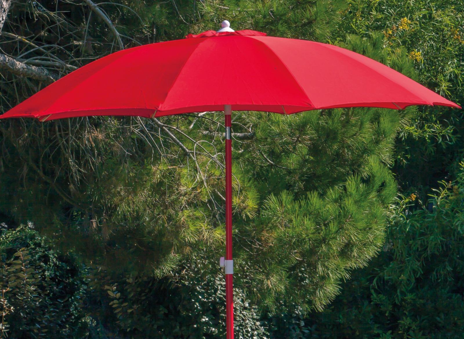 Parasol droit Ø 270 cm (coloris mât/toile assortis)