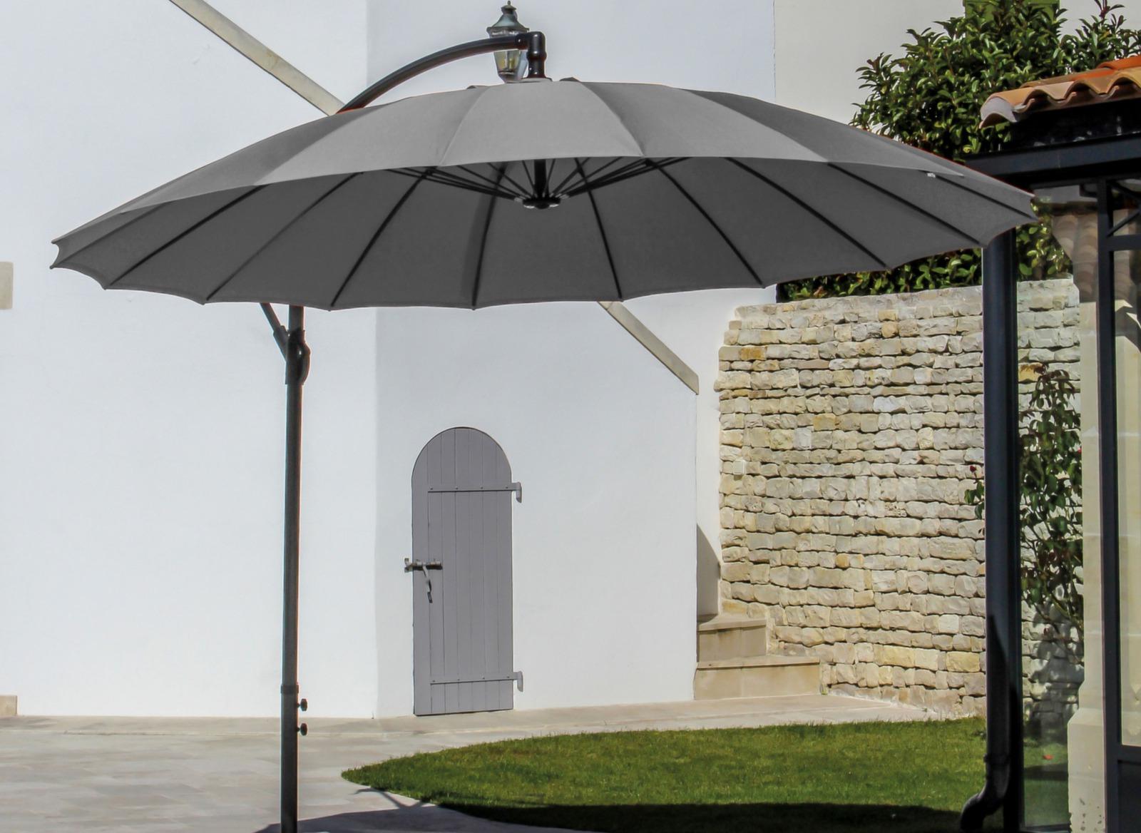 parasol d port rond pagode 300cm gamme aliz proloisirs. Black Bedroom Furniture Sets. Home Design Ideas