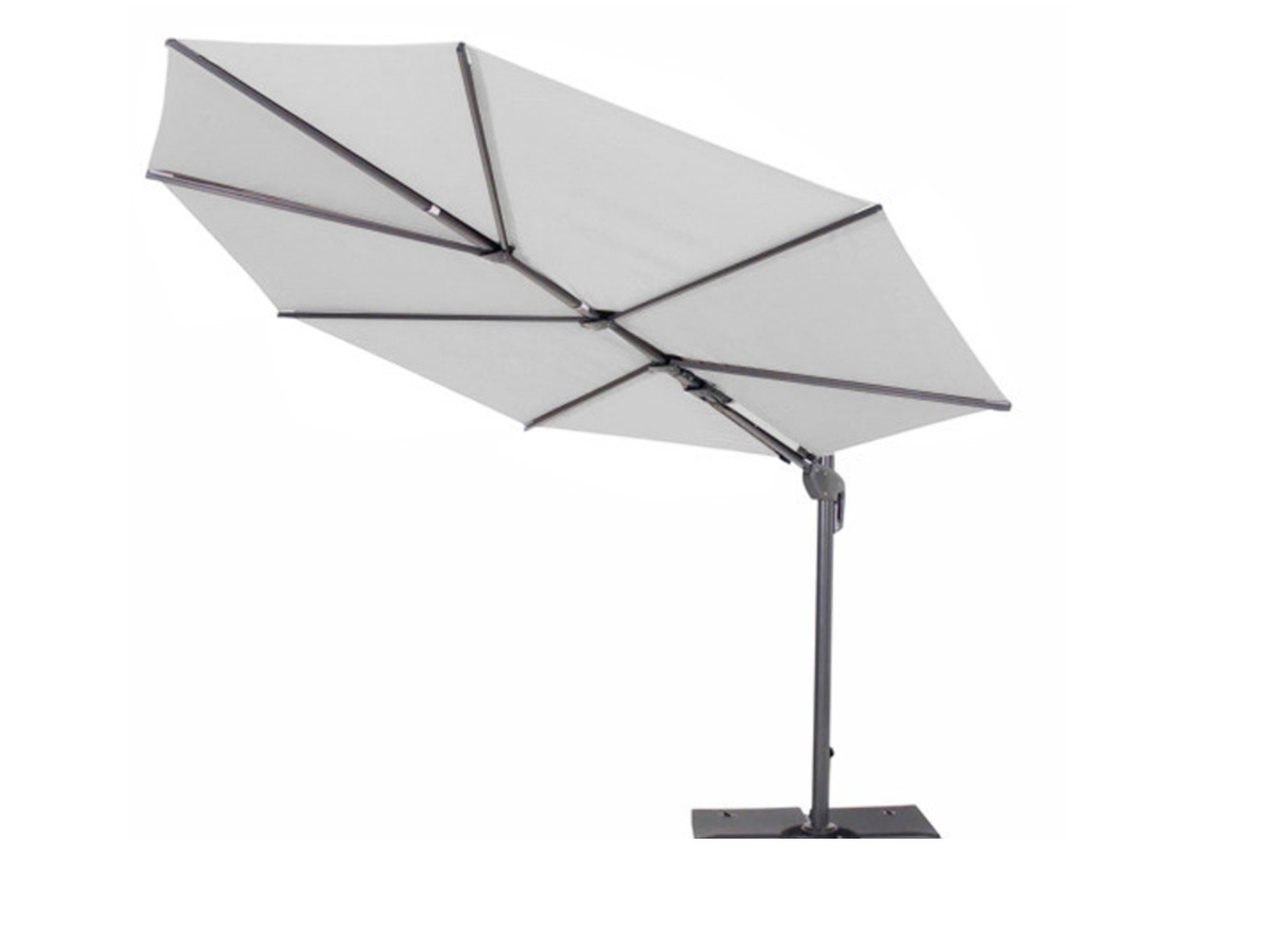 parasol d port blanc feuille luxe parasol pas cher. Black Bedroom Furniture Sets. Home Design Ideas