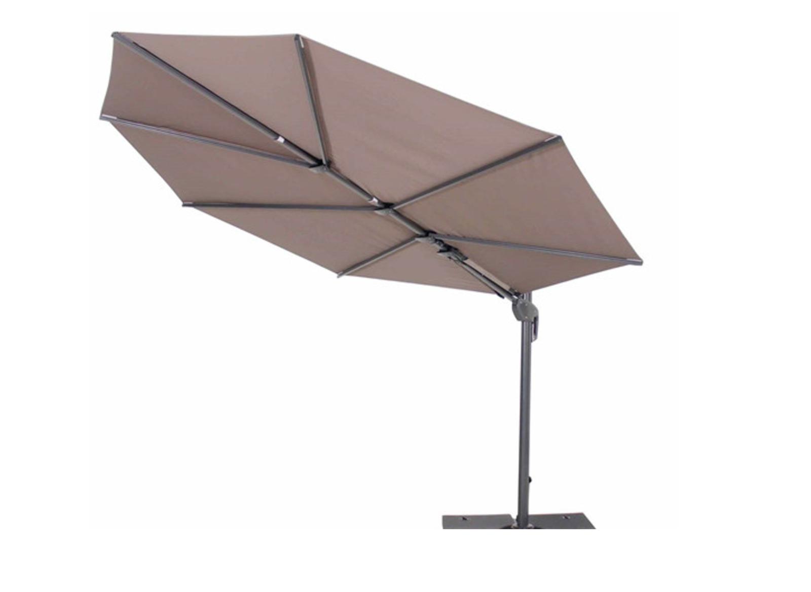 Parasol déporté Feuille Luxe