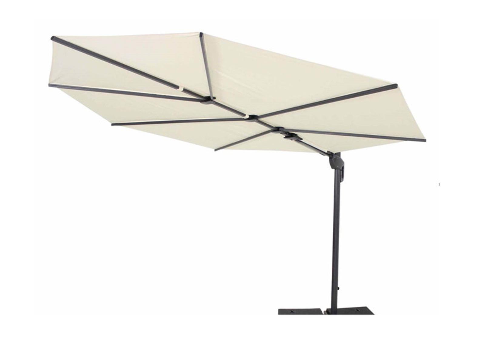 Parasol déporté Feuille Premium