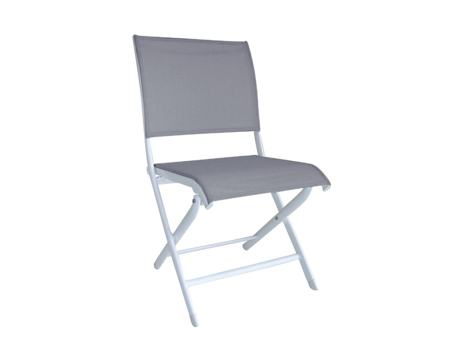 Chaise de jardin pliante violette et grise l gance oc o - Chaise pliante salon ...
