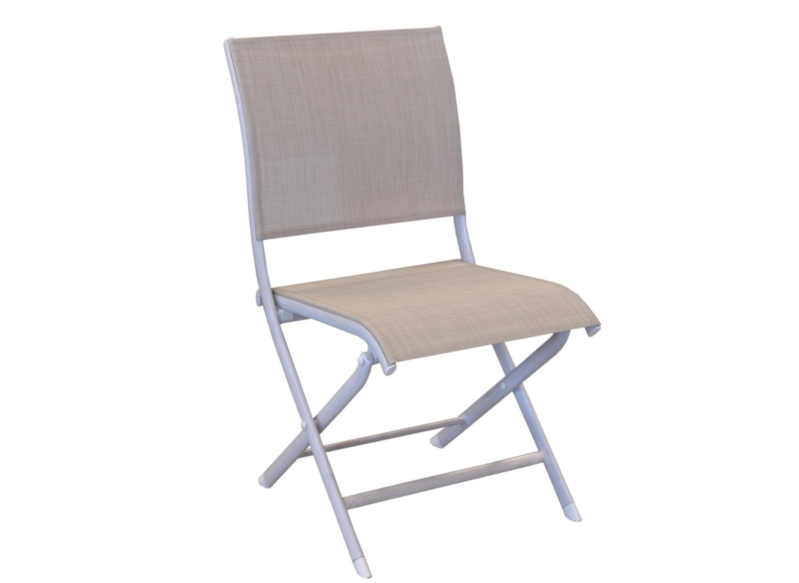 Chaise pliante Elégance (brush ou TPEP mat)