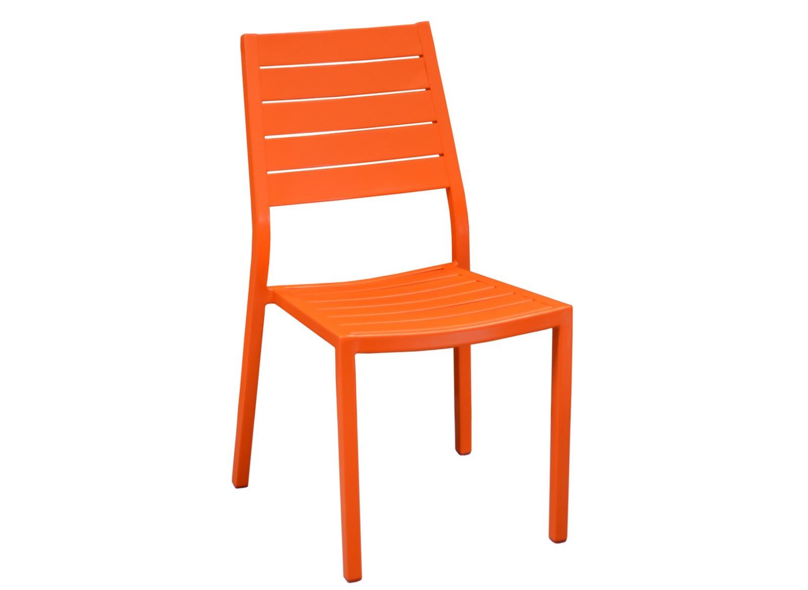 Chaise aluminium orange salon de jardin latin oc o - Chaises aluminium de jardin ...