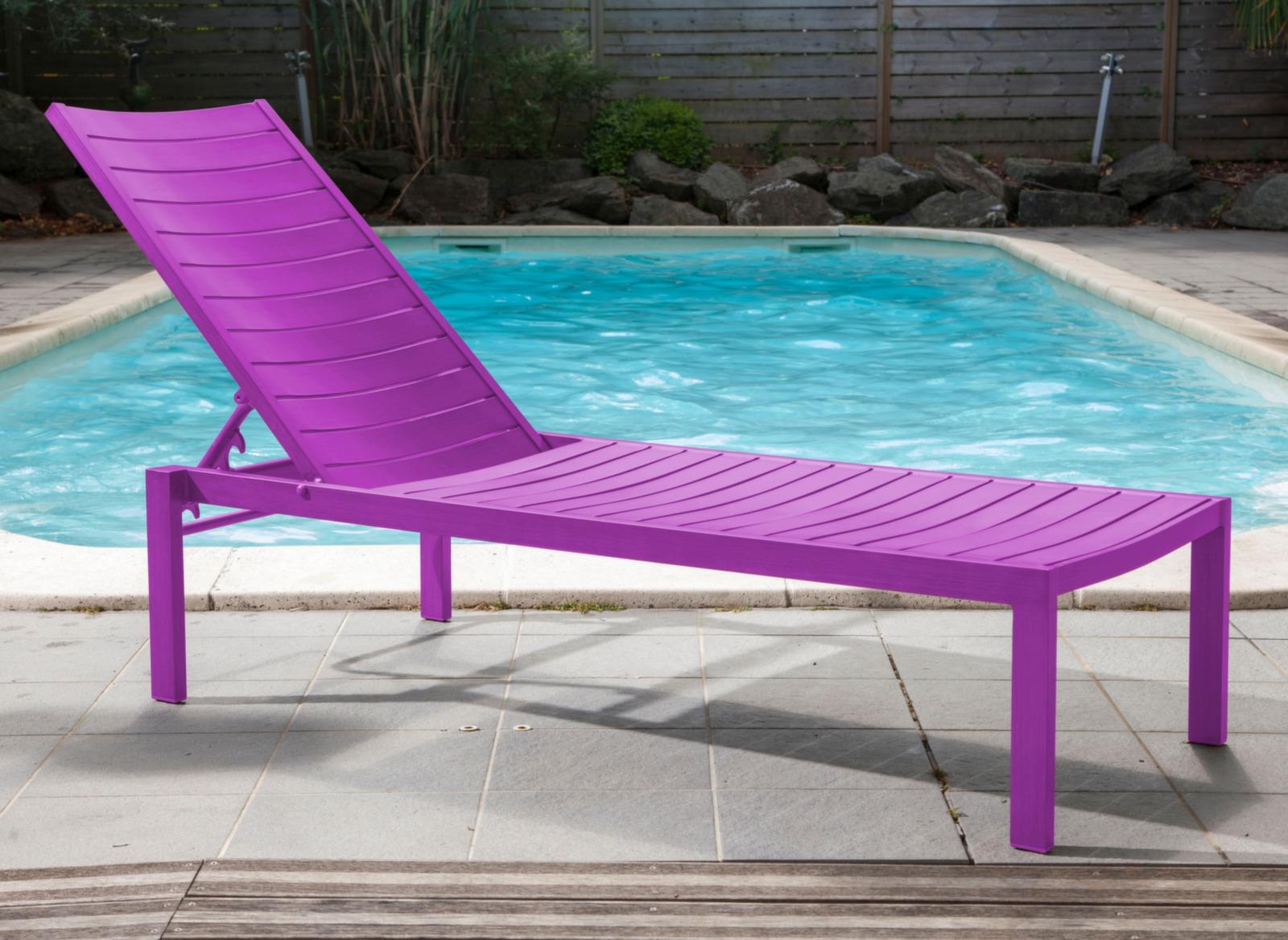 lit de soleil latin blanc promotion oc o proloisirs. Black Bedroom Furniture Sets. Home Design Ideas
