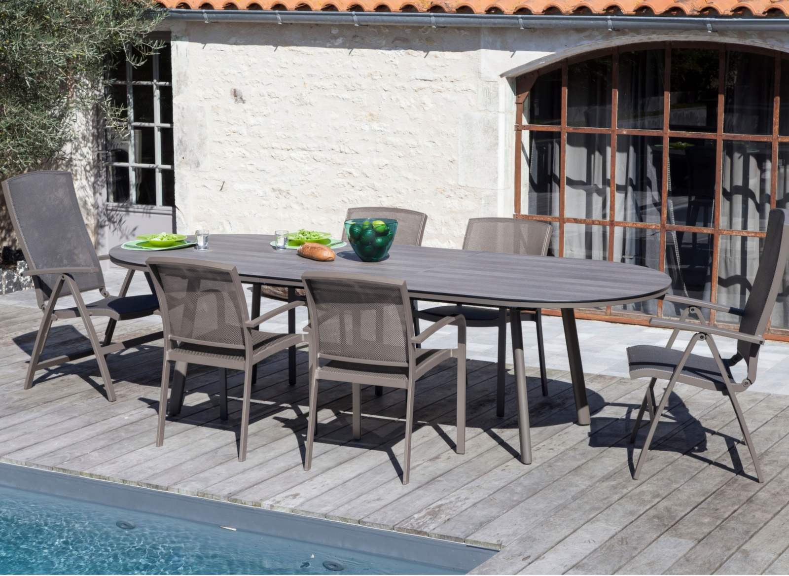 Table Bilbao 160/200 cm, plateau Trespa®