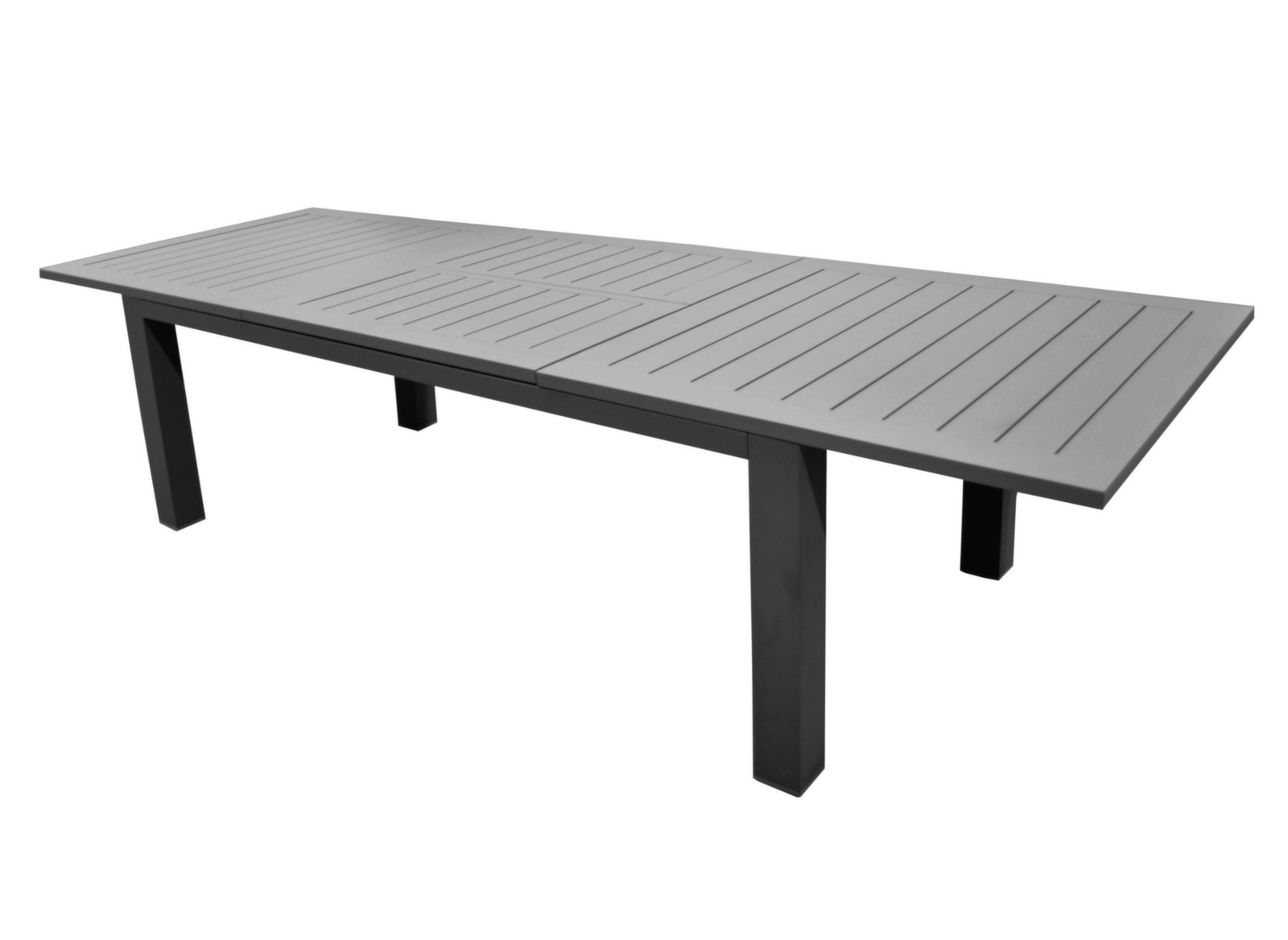 Table de jardin aluminium 12 places aurore oc o proloisirs for Table a rallonge 12 personnes