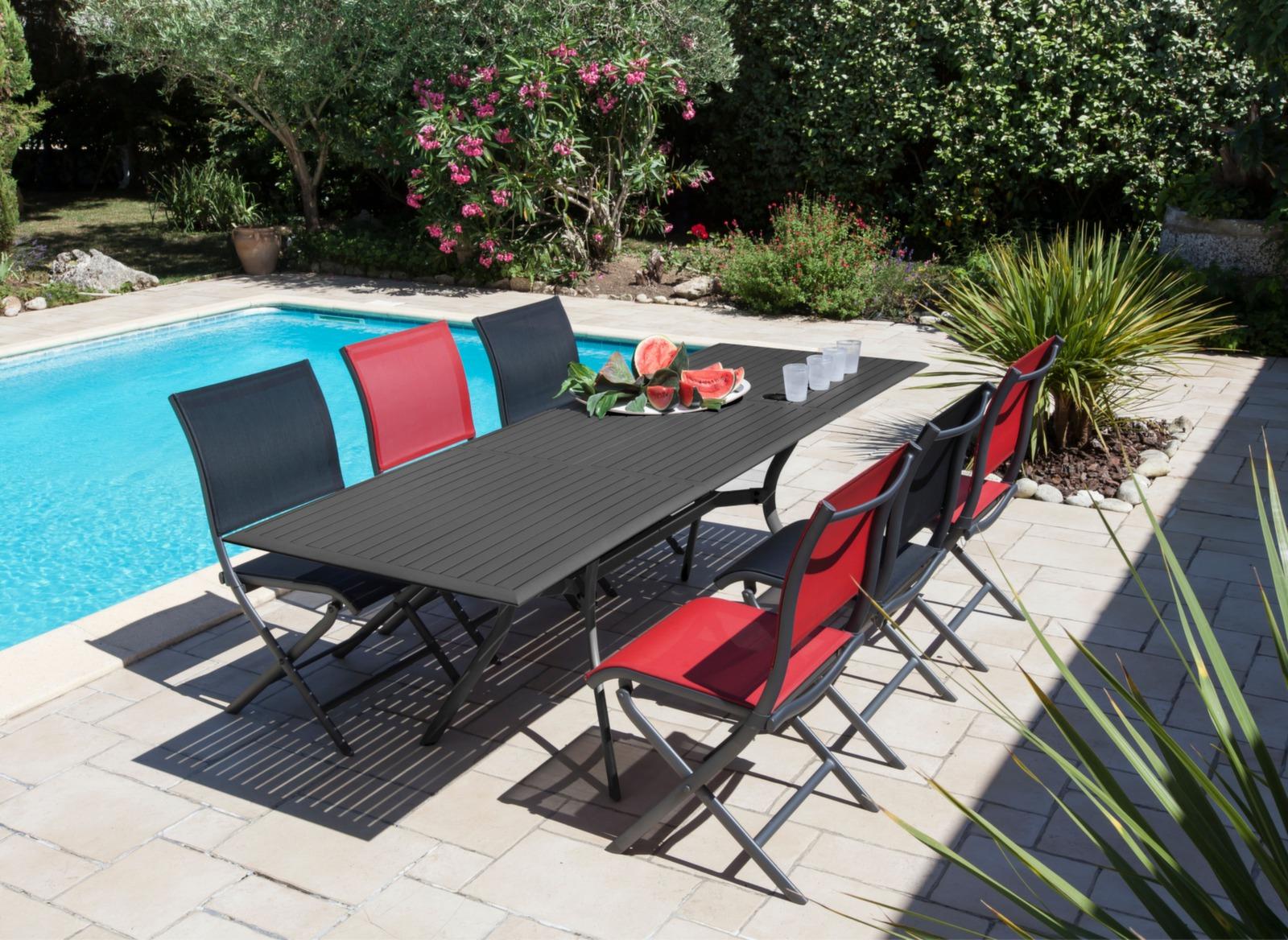 Table jardin rallonge 160/240cm Seville - Gamme Océo - Proloisirs