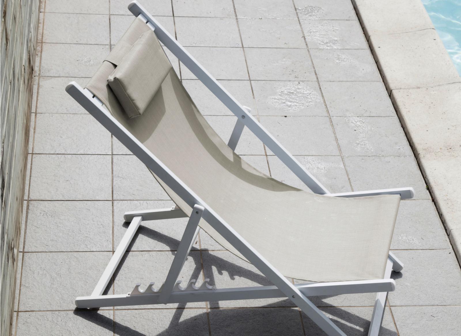 Chilienne Linéa pliante en aluminium – Proloisirs mobilier de jardin